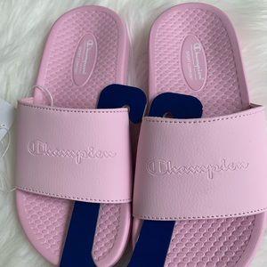 Girls Pink comfort Slides